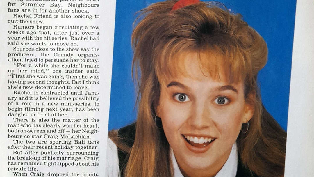 """TV Week: """"Rachel's Set to Quit!"""" Neighbours 14th October 1989"""
