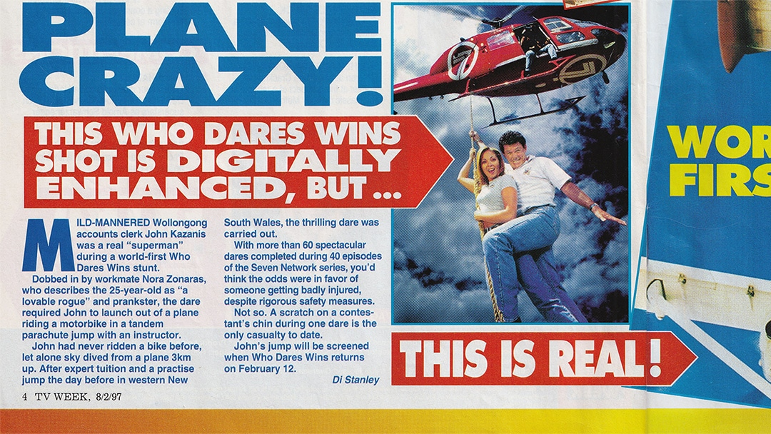"""TV Week: """"Plane Crazy!"""" Who Dares Wins 8th February 1997"""