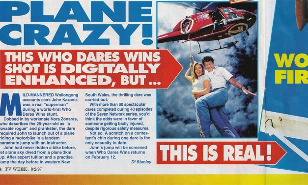 "TV Week: ""Plane Crazy!"" Who Dares Wins 8th February 1997"