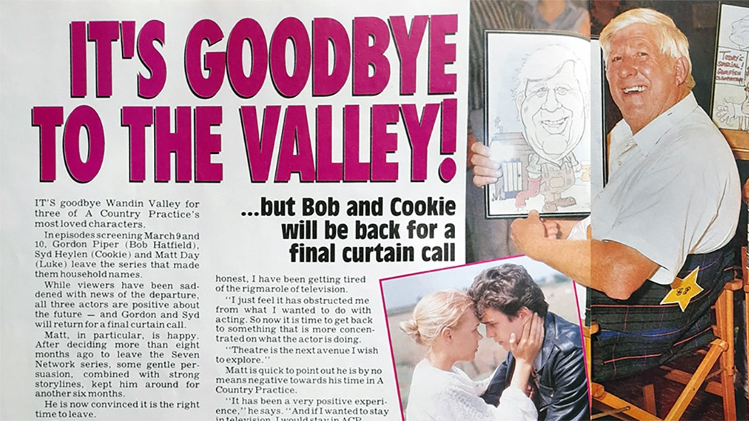 """TV Week: """"It's Goodbye To The Valley!"""" A Country Practice 29th February 1992"""