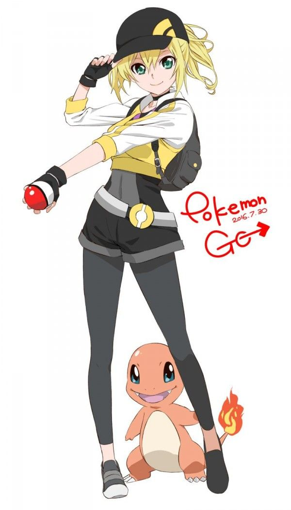 Blonde Female Pokemon Trainer