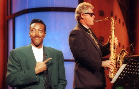 Image result for bill clinton saxophone