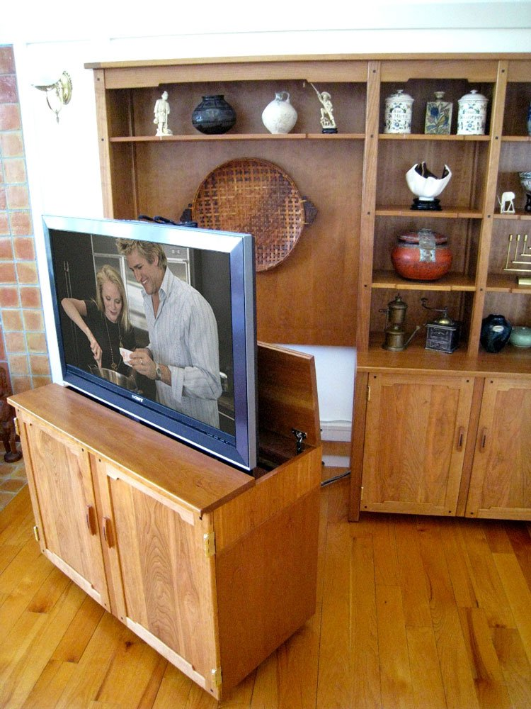 Pull Out TV Stand  Custom Made Pull Out TV Cabinet  Nexus 21