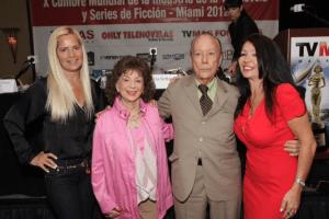 Grecia Colmenares, Delia Fiallo, Arquímedes Rivero y Amanda Ospina