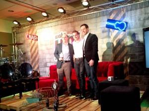 Ulises Ramírez, Director de IMC (Comunicación Integrada  de Marketing) para Coca-Cola México, Sebastián Mellino, productor y Jorge Murillo, Country Manager para México y América Central