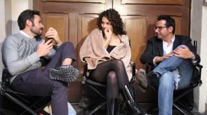 Jose María Torre, productor, Zuria Vega, actriz y Marco Polo Constandse, productor