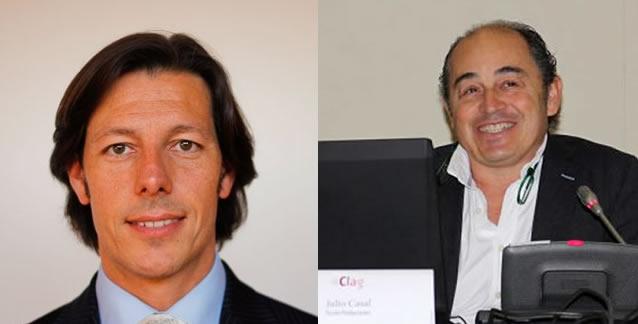 CEO de Ficción Games, Julio Casal y Director general de la productora Gato Salvaje, Fernando Priet