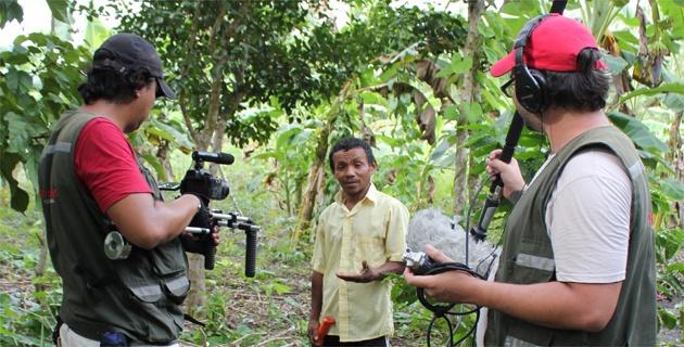 Pimenton Rojo en rodaje de documental