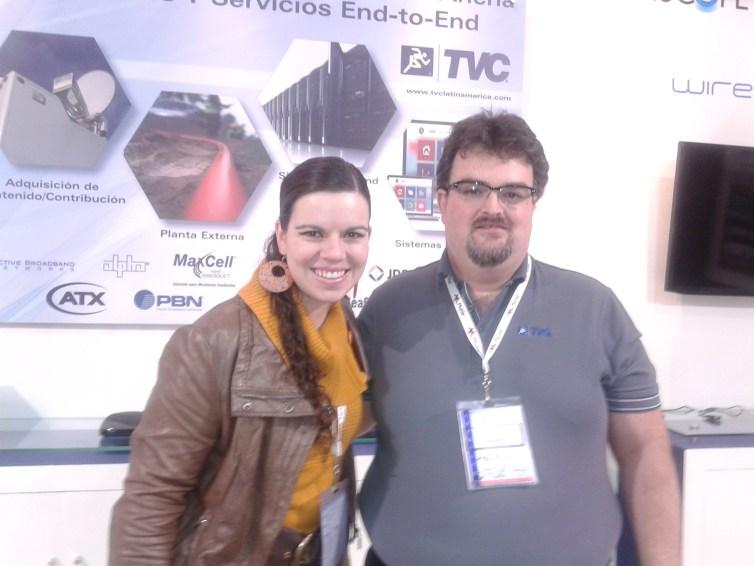 Ana Moreira Cortizo y Francisco Valle de TVC