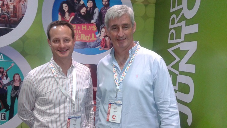 Ariel  Katz y Daniel Otaola de Telefe Internacional