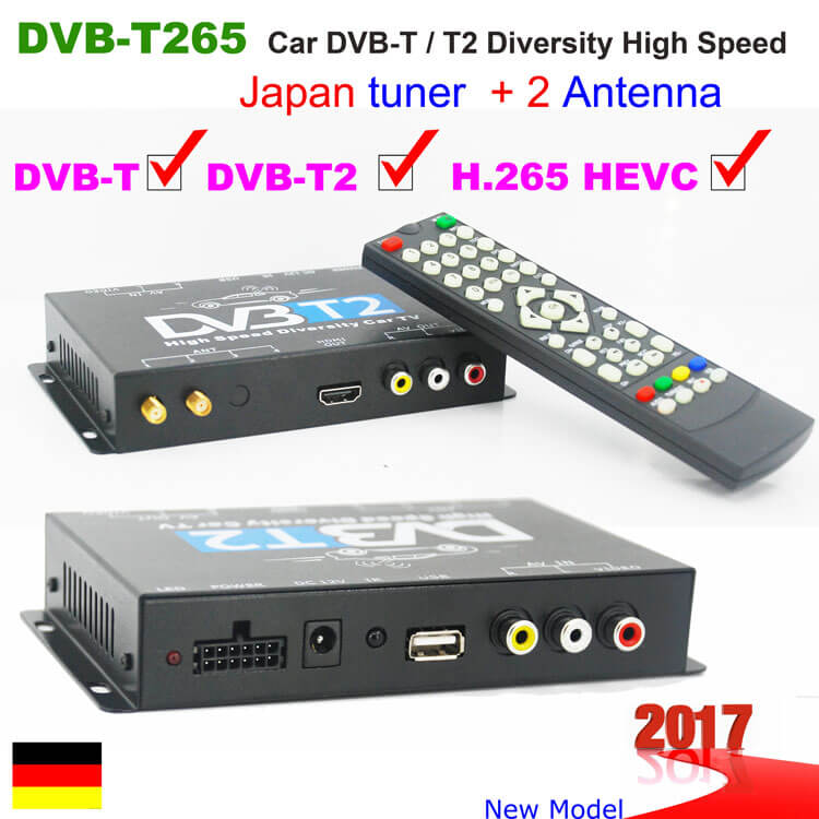 German Car DVB-T2 H265