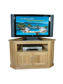 baumhaus mobel oak corner tv cabinet cor09c 121 mounts