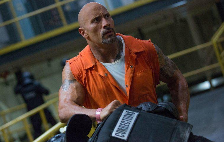 Dwayne Johnson in The Fate of the Furious