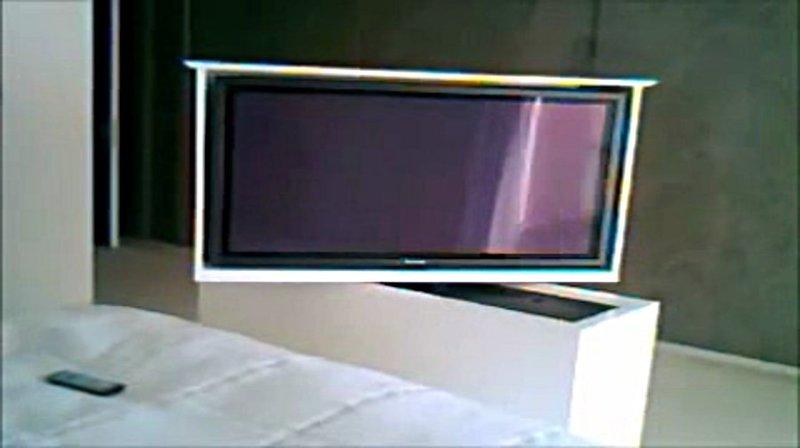 TV MOVING MLUBE  Sollevatore tv motorizzato da incasso mobile pannellabile per tv a scomparsa