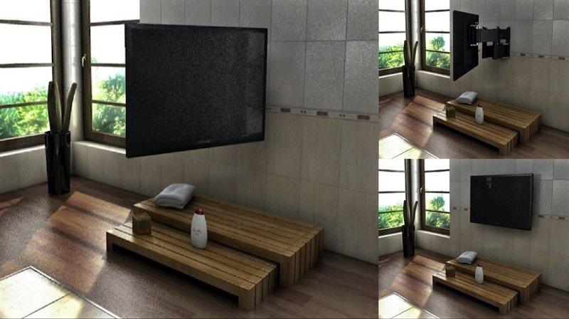 TV MOVING QA2  Staffa tv motorizzata da parete per tv a