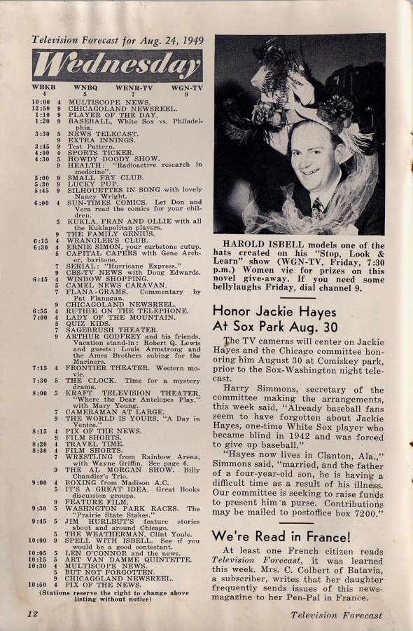 Full Issue of 1949 Television Forecast  Television Obscurities