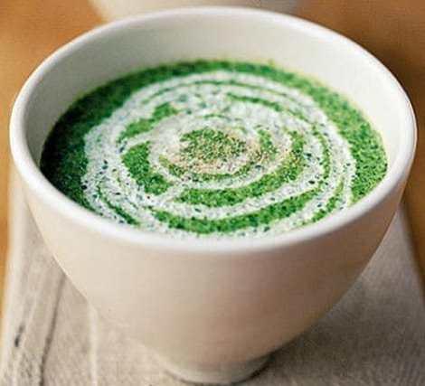 Суп-пюре из шпината со сливками рецепт на овощном отваре.