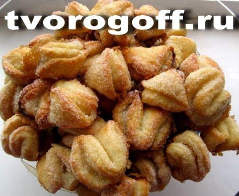 Творожное печенье конвертики, масло сливочное применяется