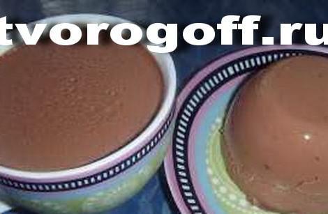 Творожный десерт молочный шоколад с медом. Творожное суфле.