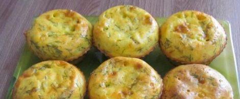 Кексы плавленные сырки, зелень. Сытный вкусный завтрак для семьи.
