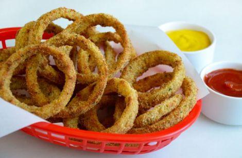 Луковые чипсы кольцами рецепт. Готовим в духовке острую закуску.