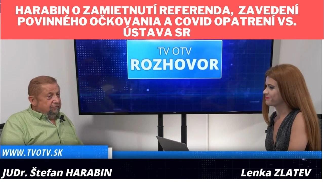 Štefan Harabin o zamietnutí referenda
