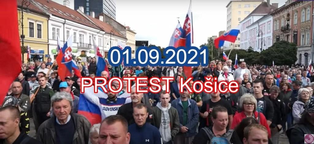 Deň Ústavy SR -Protivládny protest Košice 01.09.2021