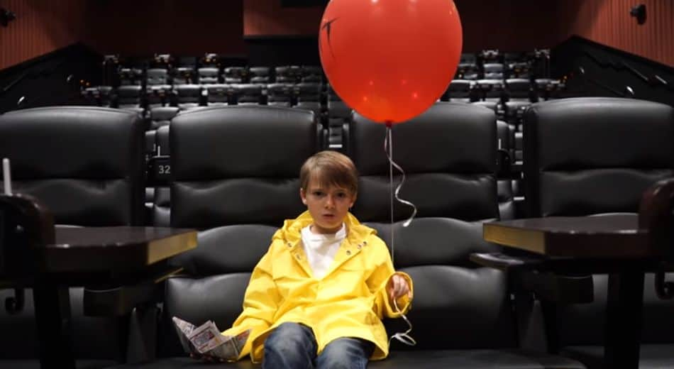theater chairs home entertainment swivel chair large georgie from it shoots a little psa about talking and texting during movies