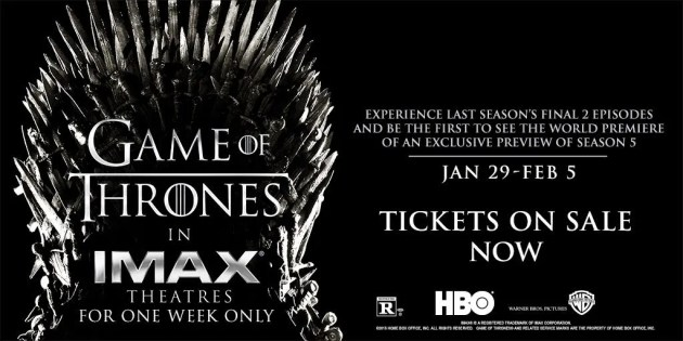 game of thrones imax poster