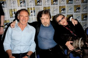 Harrison Ford, Mark Hamill et Carrie Fisher
