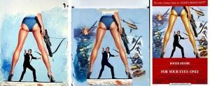 L'évolution de l'affiche de Bill Gold pour For Your Eyes Only (1981).