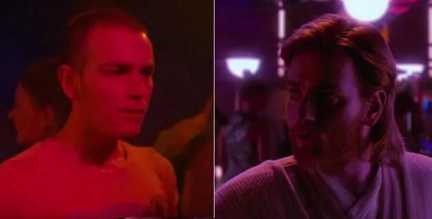 Le Mark Renton de 1996 échange un regard avec le Obi-Wan Kenobi de 2002!