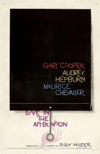 Affiche du film Love in the Afternoon conçue par Saul Bass en 1957