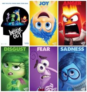 Affiches promotionnelles des personnages pour le film Inside Out (2015).