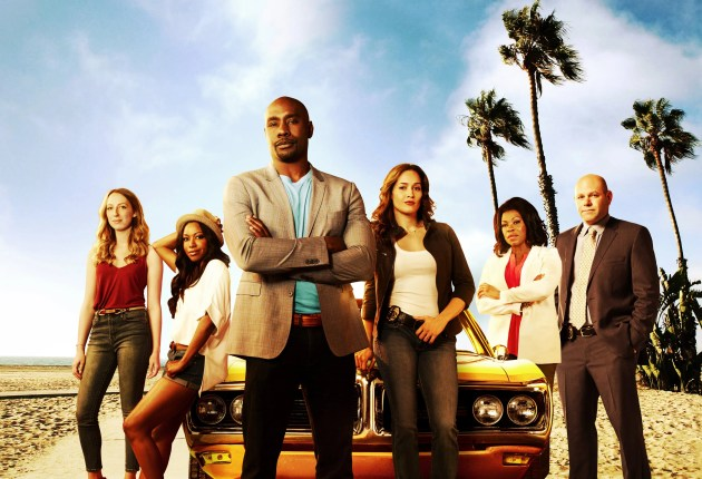 ROSEWOOD:  Cast Pictured L-R: Anna Konkle as TMI, Gabrielle Dennis as Pippy Rosewood, Morris Chestnut as Beaumont Rosewood, Jr., Jaina Lee Ortiz as Detective Villa, Lorraine Toussaint as Donna Rosewood and Domenick Lombardozzi as Captain Ira Hornstock in ROSEWOOD premiering Wednesday, September 23 (8:00-9:00 PM ET/PT) on FOX. ©2015 Fox Broadcasting Co. Cr: Justin Stephens/FOX.