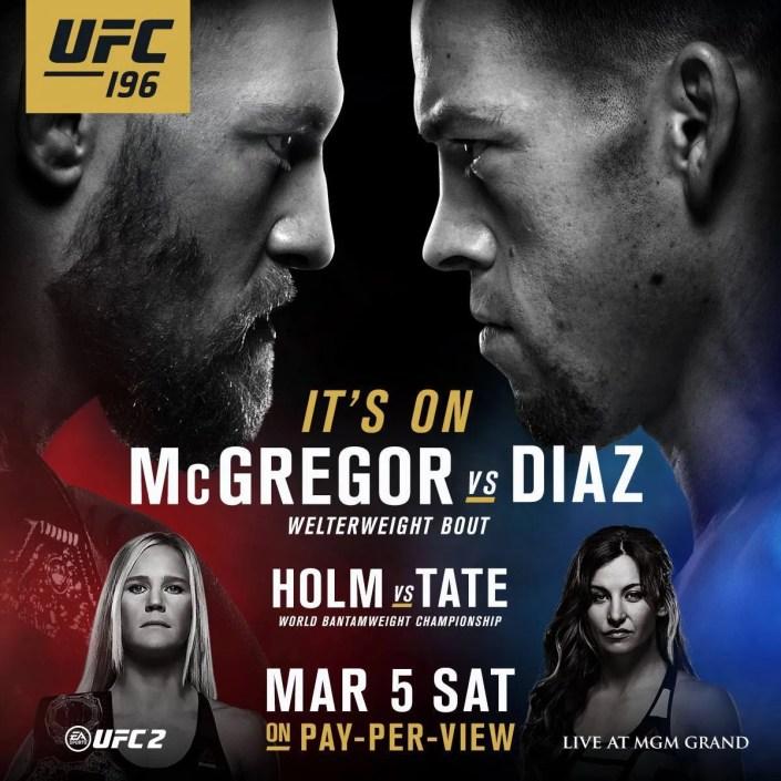 UFC 196 : Conor McGregor vs. Nate Diaz