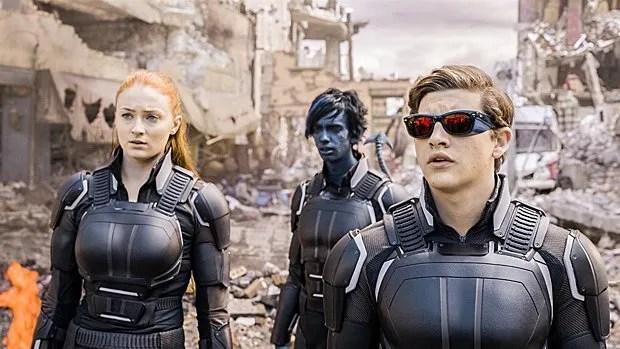 De « nouveaux » membres des X-Men : Jean Grey (Sophie Turner), Nightcrawler (Kodi Smit-McPhee) et Cyclops (Tye Sheridan).