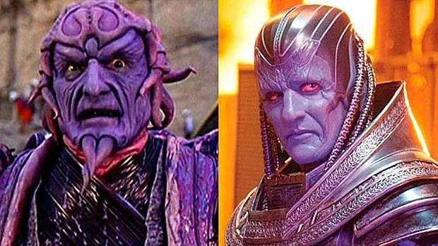 La ressemblance entre Ivan Ooze de Mighty Morphin Power Rangers: The Movie (à gauche) et Apocalypse (à droite) m'a fait une peur bleue...
