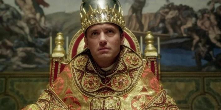 The Young Pope:  Jude Law dans le rôle de Lenny Belardo, le Pape Pie XIII