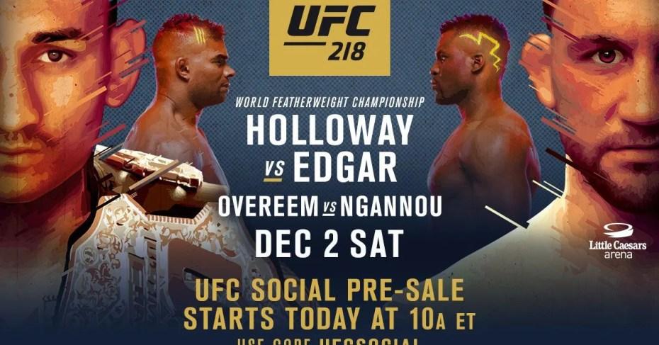UFC 218 Holloway vs. Aldo 2