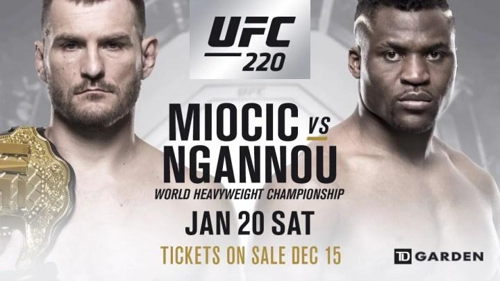 UFC 220: Miocic vs Ngannou