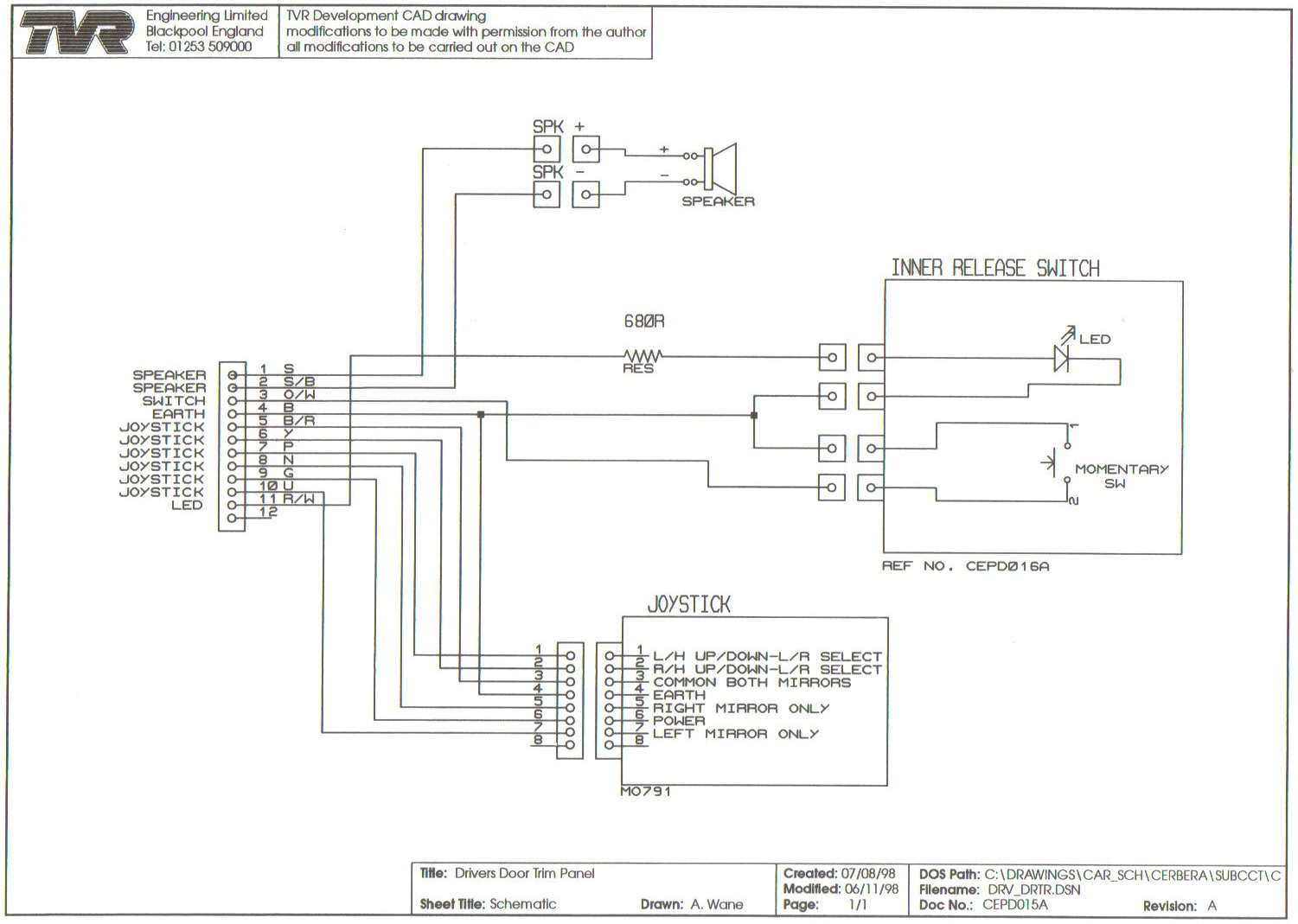 main electrical panel wiring diagram four wire trailer drivers door