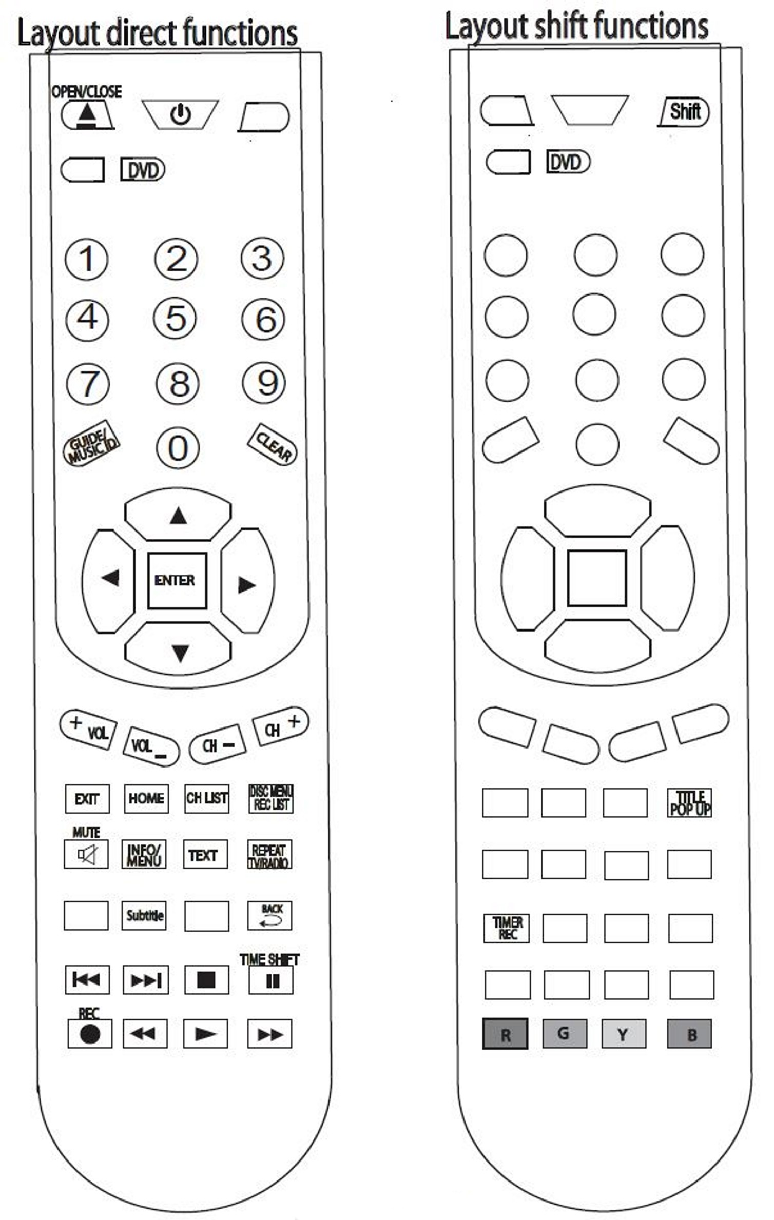 Replacement LG Remote Control AKB73615501 HR822T HR825T HR836T