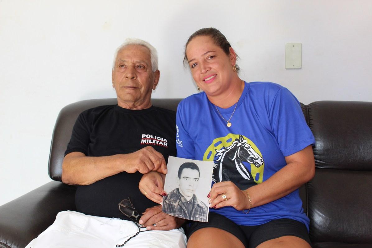 Sargento Freitas e sua filha Sibele Freitas