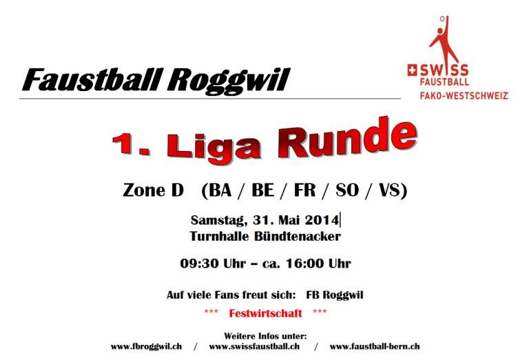 Faustball 1. Ligameisterschaft am 31. Mai in Roggwil