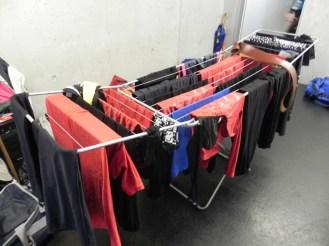 Kleider am Trocknen