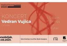 Photo of Muzička akademija UNSA – Online koncert gitariste Vedrana Vujice 29. marta