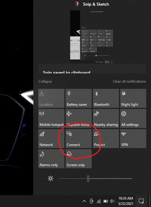 Screenshot windows Connect