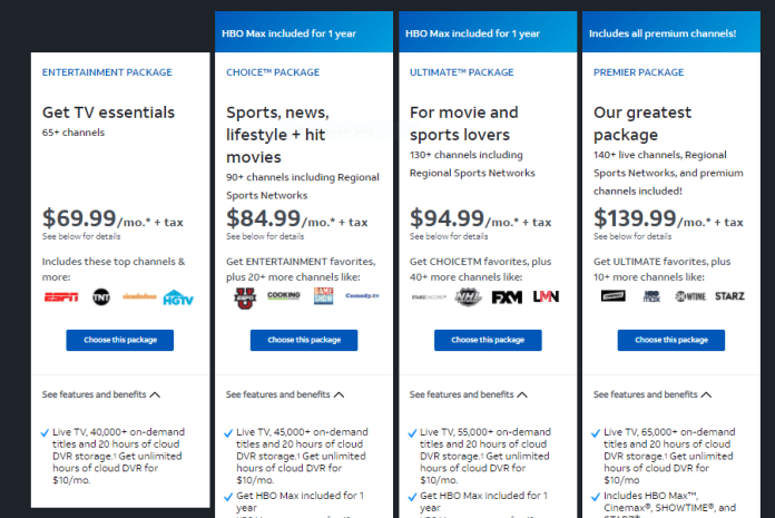 AT & T TV Packages