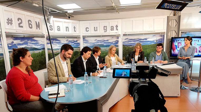 TV Sant Cugat ha celebrat el debat electoral amb els partits amb representació al ple